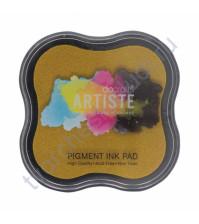 Штемпельная пигментная подушечка Pigment Ink pad, 7х7 см, цвет темно-желтый