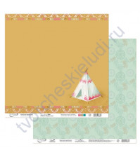 Бумага для скрапбукинга двусторонняя коллекция Ловец снов, 30.5х30.5 см, 190 гр/м, лист 5