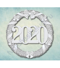 Форма силиконовая (молд) Венок 2020-2, 50х50 мм