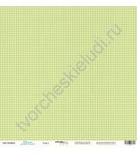 Бумага для скрапбукинга односторонняя 30.5х30.5 см, 190 гр/м, коллекция Такие мальчишки , лист Узор-1