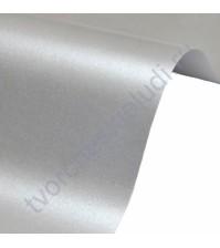 Лист гладкой дизайнерской бумаги Majestic 250 гр, формат А4, цвет Настоящее серебро