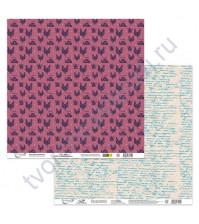 Бумага для скрапбукинга двусторонняя Сказки августа, 190 гр/м2, 30.5х30.5 см, лист 3