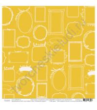 Бумага для скрапбукинга односторонняя, коллекция Семейный альбом, размер 30.5х30.5 см, 190 гр\м2, лист Семейный портрет