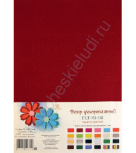 Лист фетра 21х29.7см, 1 мм, цвет темно-красный