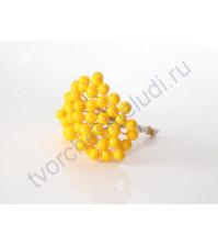 Ягодки 8 мм, 10 ягодок, цвет жёлтый