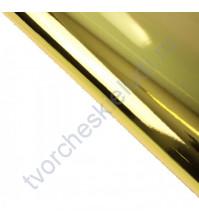 Бумага упаковочная металлизированная, 75 гр/м2, 70х50 см, цвет золото