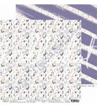 Бумага для скрапбукинга двусторонняя 30.5х30.5 см, 190 гр/м, коллекция Кроличья нора, лист На поляне