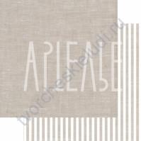Бумага для скрапбукинга двусторонняя, коллекция ФОНОteka, 30х30 см плотность 190г/м, лист Там, где лён шумит