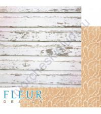 Бумага для скрапбукинга двусторонняя коллекция Дыхание весны, 30.5х30.5 см, 190 гр/м, лист Старое дерево