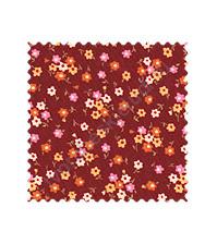 Ткань для лоскутного шитья, коллекция Письмо, Цветы на красном 50х55 см.