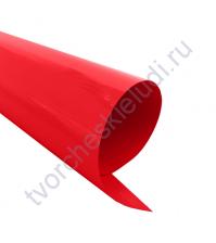 Термотрансферная пленка, цвет огненно-красный, матовый, 25х25см, SC101023
