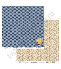 Бумага для скрапбукинга двусторонняя Сказки августа, 190 гр/м2, 30.5х30.5 см, лист 1