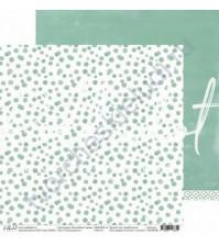Бумага для скрапбукинга двусторонняя 30.5х30.5 см, 190 гр/м, коллекция Волшебная страна, лист Тихая радость