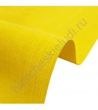 Кожзам переплетный с тиснением под холст на полиуретановой основе плотность 230 гр/м2, 50х70 см, цвет F332-желтый