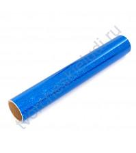 Винил клеевой голографический, цвет синий, 30.5х30.5 см (+/- 0.5см)