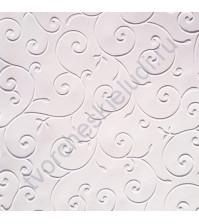Дизайнерская бумага с эмбоссированием (тиснением) Изысканные цветы, А4, 120 гр, цвет Лунный свет
