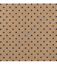 Джутовый лист Small black polka dot, 30.5х30.5 см