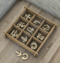 Декоративные элементы из дерева Указатели-7, 9 элементов