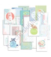 Набор карточек для журналинга Лесная поляна, плотность 190 гр/м, 20 штук