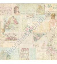 Бумага для скрапбукинга односторонняя коллекция Attic Treasures, 30.5х30.5 см, 180 гр/м, лист Jewell