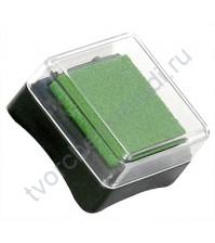 Штемпельная подушечка Inc Pads mini на масляной основе, 3х3 см, цвет темно-зеленый