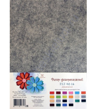 Лист фетра 21х29.7см, 2 мм, цвет мраморный