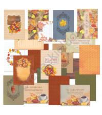Набор карточек для журналинга Сны листопада, плотность 190 гр/м, 20 штук