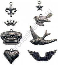 Набор металлических украшений Adornments, 8 элементов