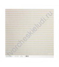 Бумага односторонняя с блестками 30.5х30.5 см, 180 гр/м2, лист Золотые переливы