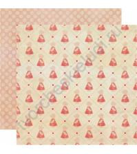Бумага для скрапбукинга двусторонняя коллекция Precious, 30.5х30.5 см, 220 гр/м, лист Precious Girl
