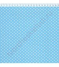 Ткань для рукоделия 100% хлопок, плотность 120г/м2, размер 70х50см (+/- 2см), коллекция Горох, дизайн 4, цвет 1