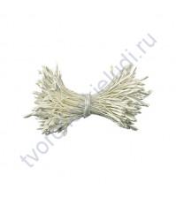 Тычинки двусторонние 2.2 мм, 85 шт, цвет белый