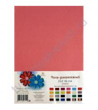 Лист фетра 21х29.7см, 1 мм, цвет розовый