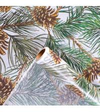 Бумага упаковочная тишью Шишкин лес, размер 50х70 см