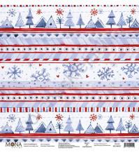 Бумага для скрапбукинга односторонняя Зимняя сказка, 30.5х30.5 см, 190 гр/м, лист Снегурочка