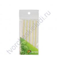 Полужемчужинки клеевые 3 мм, 175 шт, цвет желтый