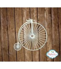 Чипборд Велосипед ретро, 7х7 см