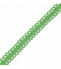 Тесьма вязаная хлопок шир 20 мм, цв. 08 зеленый