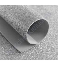 Фоамиран с глиттером, 1.8 мм, формат А4, цвет серебро блеск