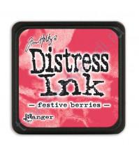 Штемпельная мини-подушечка Tim Holtz Distress Mini Ink Pads на водной основе, 2.5х2.5 см, цвет праздничные ягоды (festive berries)