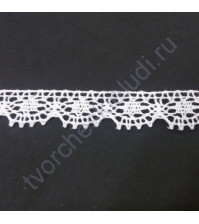 Тесьма вязаная (кружево) Iemesa, шир. 11 мм, цвет белый, 1 метр