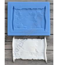 Форма силиконовая (молд) для полимерной глины, Пиратская карта сокровищ