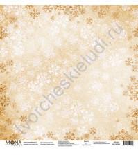 Бумага для скрапбукинга односторонняя Зимняя сказка, 30.5х30.5 см, 190 гр/м, лист Снежная королева