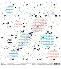 Бумага для скрапбукинга односторонняя коллекция На чемоданах, 30.5х30.5 см, 190 гр/м, лист В небе