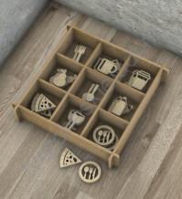 Декоративные элементы из дерева Кухня-10, 9 элементов