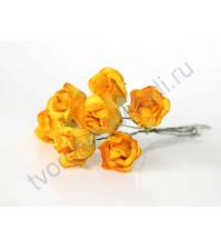 Бутоны роз большие полураскрытые, 5 шт, цвет желтый