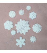 Набор пластиковых фигурок Снегопад, 10 элементов