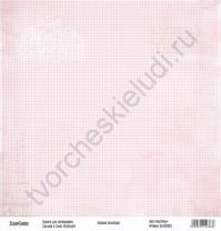 Бумага для скрапбукинга односторонняя, коллекция Базовая розовая, 30х30 см, 250 гр/м2, лист Клеточки