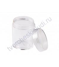 Банка пластиковая с завинчивающейся крышкой, 3.9х5 см, 20 мл, прозрачная