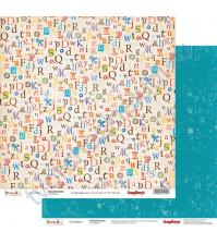 Бумага для скрапбукинга двусторонняя Басик, 30.5х30.5 см 190гр/м, лист Поговорим